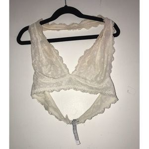 Free People Bralette White Small
